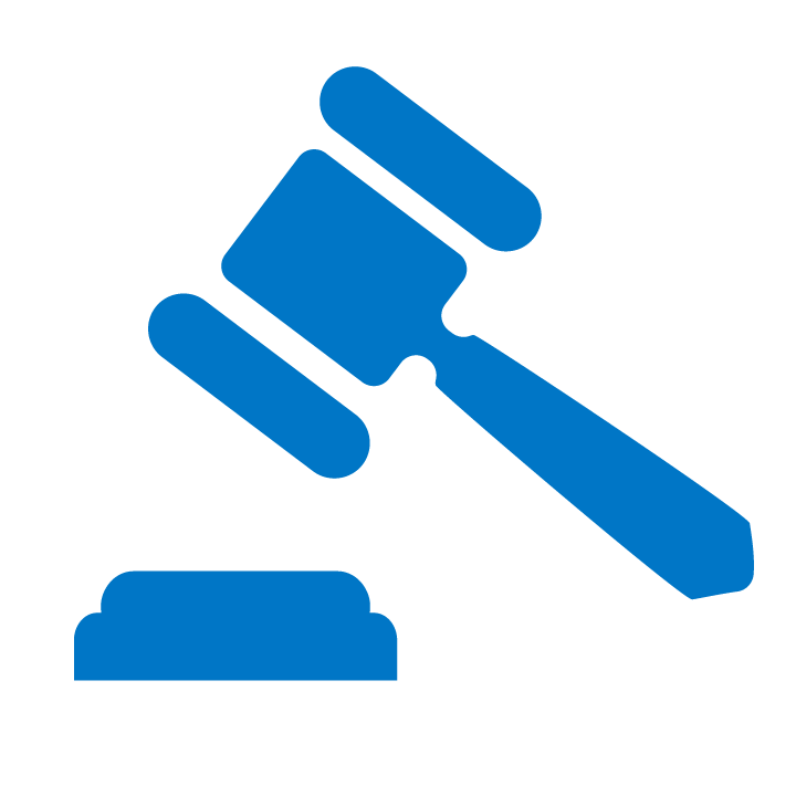 Legal gavel icon